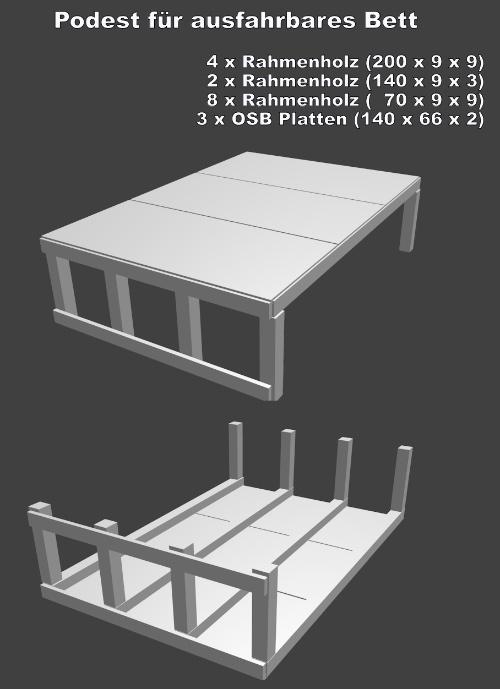 selbstgebautes bett podest. Black Bedroom Furniture Sets. Home Design Ideas